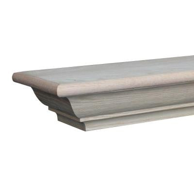 Richmond 6 ft. Paint Grade Cap-Shelf Mantel
