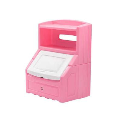 38 in. H x 28.5 in. W Plastic Lift and Hide Storage Chest in Pink