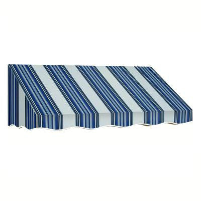 14 ft. San Francisco Window/Entry Awning (24 in. H x 42 in. D) in Navy/Gray/White Stripe