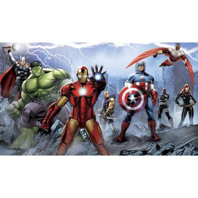 72 in. x 126 in. Avengers Assemble Ultra-Strippable Wall Mural