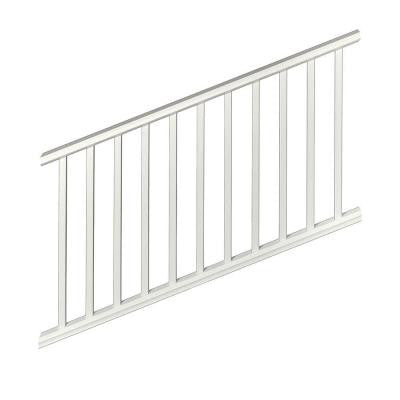 Regency 6 ft. x 3 ft. White Capped Composite Stair Rail Kit