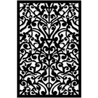 1/4 in. x 32 in. x 4 ft. Black Ginger Dove Vinyl Decor Panel