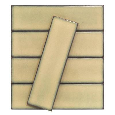 Vintage Khaki 3 in. x 9 in. x 10 mm Ceramic Wall Mosaic Tile (5 Tiles Per Unit)