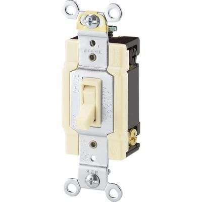 Standard Grade 15-Amp 4-Way Toggle Switch with Side and Push Wiring - Light Almond