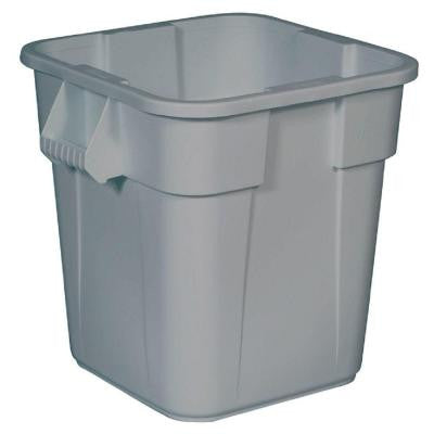 BRUTE 28 Gal. Gray Square Trash Can