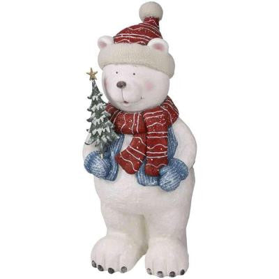 30 in. H Standing Polar Bear Statue