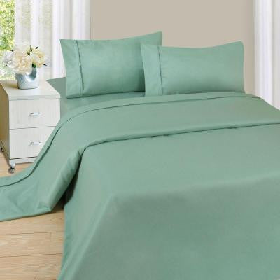 1200 Series Sage 75 gsm Twin Microfiber Sheet Set (3-Piece)