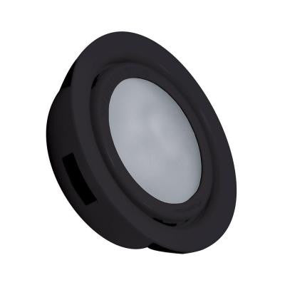 MiniPot Premium 1-Lamp Xenon Black Under Cabinet Light and Frosted Glass