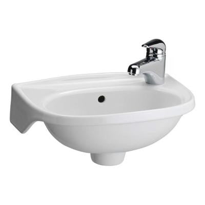 Tina Wall-Mounted Bathroom Sink in White