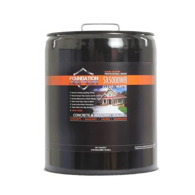 SX5000 WB 5-gal. Penetrating Clear Water-Based Silane-Siloxane Concrete & Masonry Water Repellent Sealer with Salt Guard