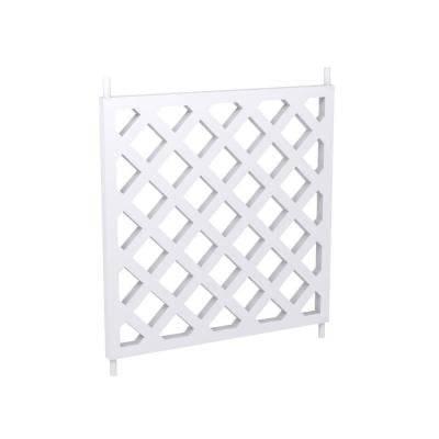 28 in. x 28 in. x 1-1/4 in. Polyurethane Balustrade Diagonal Crosshatch Panel
