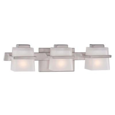 Harlin Hills 3-Light Brushed Nickel Vanity Light