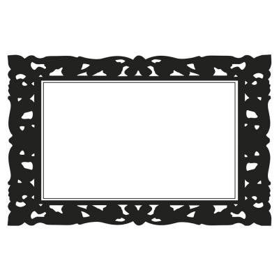 2.5 in. x 27 in. Ornate Frames Dry Erase Peel and Stick Wall Decals