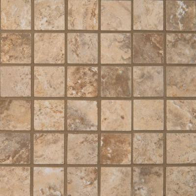 Navona Sole 12 in. x 12 in. x 10 mm Porcelain Mesh-Mounted Mosaic Floor and Wall Tile (8 sq. ft. / case)