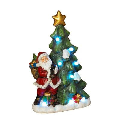 20 in. H Battery Operated Lighted Santa Figurine