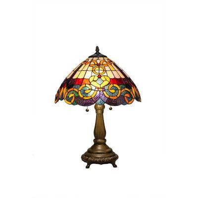 Tiffany Baroque 23 in. Bronze Table Lamp