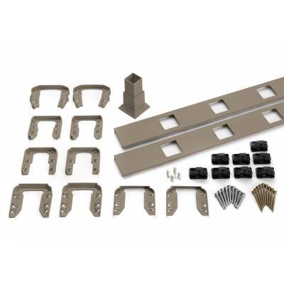 Transcend 91.5 in. Gravel Path Square Baluster Stair Accessory Kit