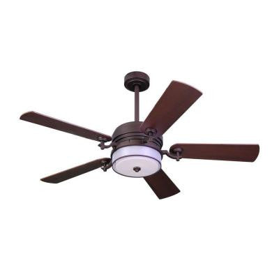 52 in. Indoor Bronze Organza Shade Ceiling Fan