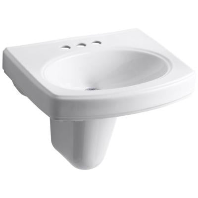 Pinoir Wall-Mount Bathroom Sink in White
