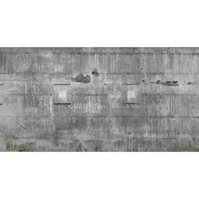 120 in. H x 219 in. W Distressed Multi Colored Faux Concrete Wall Mural