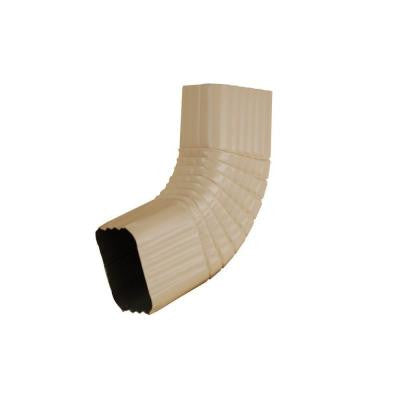 2 in. x 3 in. Light Maple Aluminum Downspout B Elbow