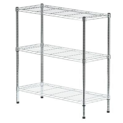 3-Tier 35.7 in. x 36.5 in. x 14 in. Wire Home Use Shelving Unit