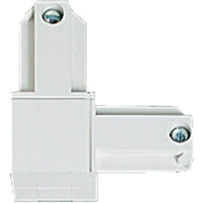 Alpha Trak White Track Lighting Connector - Inside Polarity Accessory