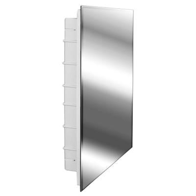 Spacecab 16 in. x 26 in. Recessed Frameless Medicine Cabinet with Polished Edge