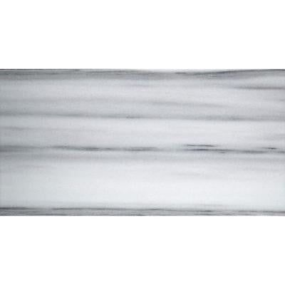 Metro White 3 in. x 6 in. Marble Floor and Wall Tile