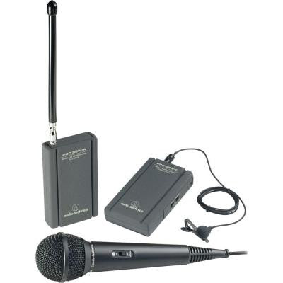 Professional VHF Wireless Lavaliere and Hand-Held Camcorder Microphone System