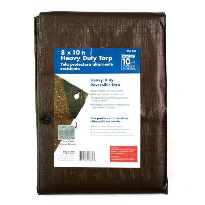 8 ft. x 10 ft. Heavy-Duty Tarp