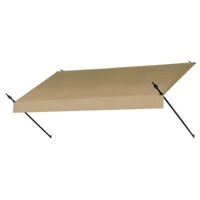 8 ft. Designer Awning (25 in. Projection) in Sand