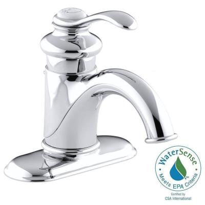 Fairfax 4 in. Centerset Single Handle Bathroom Faucet in Polished Chrome