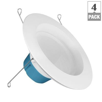 75W Equivalent Soft White BR30 5/6 in. Dimmable HomeBrite Bluetooth Smart LED Retrofit Kit (4-Pack per Case)