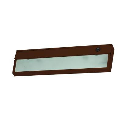 1-Lamp Bronze Under Cabinet Light with Diffused Glass