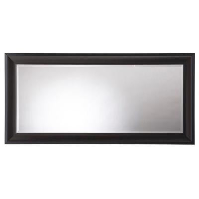 Champlain 66 in. x 32 in. Black Coffee Framed Leaner Mirror