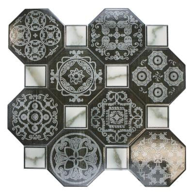 Ditte Nero 17-3/4 in. x 17-3/4 in. Ceramic Floor and Wall Tile (17.9 sq. ft. / case)