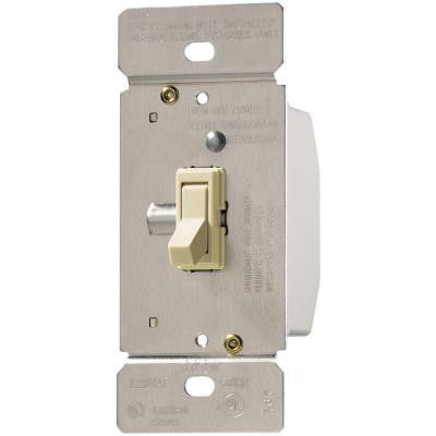 Trace 600-Watt 125-Volt Single-Pole 3-Way Toggle Dimmer for Incandescent and Halogen Lighting - Almond