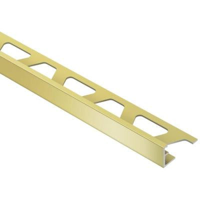 Jolly Satin Brass Anodized Aluminum 5/16 in. x 8 ft. 2-1/2 in. Metal Tile Edging Trim