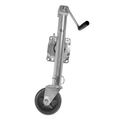 1500 lb. Trailer Jack with Swivel Wheel and Interchangeable Flat Foot Plate