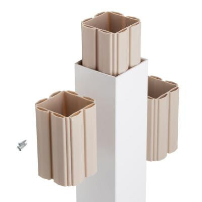5 in. x 5 in. x 120 in. Composite White Post Sleeve Kit