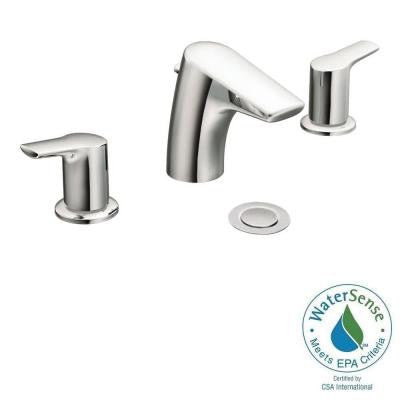Method 8 in. Widespread 2-Handle Low-Arc Bathroom Faucet Trim Kit in Chrome (Valve Sold Separately)