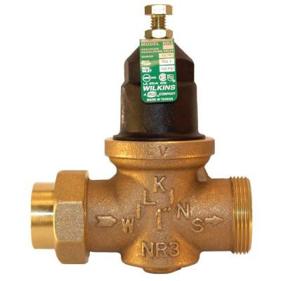 1-1/4 in. Lead-Free Bronze Water Pressure Reducing Valve with Double Union Less Union