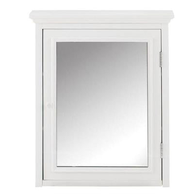 Fremont 30 in. L x 24 in. W Framed Mirror Wall Cabinet in White