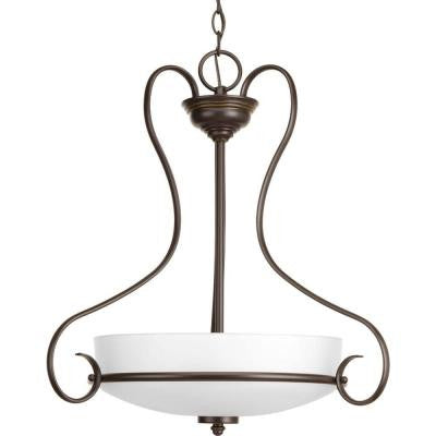 Flirt Collection 3-Light Antique Bronze Foyer Pendant