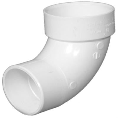 12 in. PVC DWV 90-Degree SPG x Hub Street Elbow