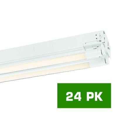 8 ft. 4-T8 Industrial LED Strip Light with 2000 Lumen LED Tubes (24-Pack)
