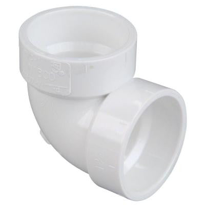 2 in. PVC DWV 90-Degree H x H Vent Elbow