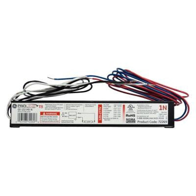120 to 277-Volt Electronic Ballast for 4 ft. 1-Lamp T8 Fixture (Case of 10)