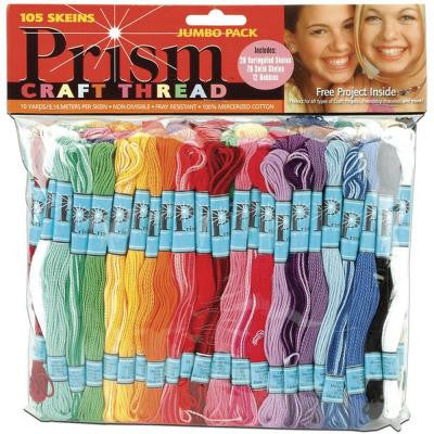 Jumbo 9.9 yds. Assorted Colors Craft Thread (105-Pack)